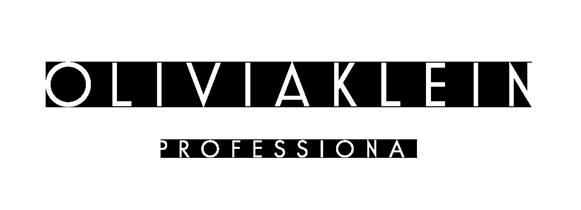 olivia klein professional logo valkoinen